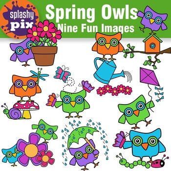 Spring Owl Clipart