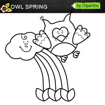 Owl Spring Clip Art