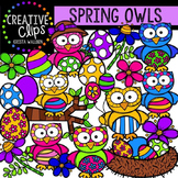 Spring Owls {Creative Clips Digital Clipart}