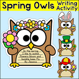 Spring Writing - Owl Theme Bulletin Board