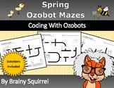 Spring Ozobot Mazes - Spring Coding