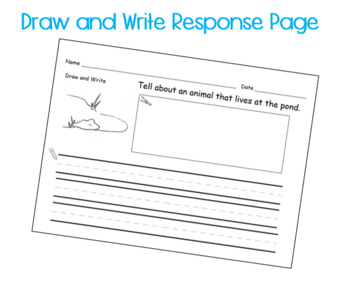 Spring POND life Printable Book Guided Reading with Response Page Kindergarten