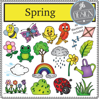 Spring Pack (JB Design Clip Art for Personal or Commercial Use)