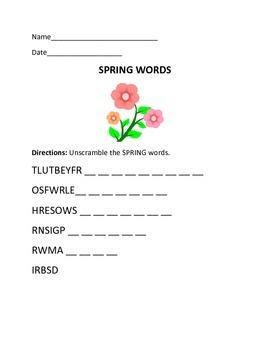 Seasons-Spring Packet