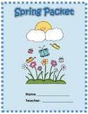 Spring Break Packet for Primary Grade Math and Reading