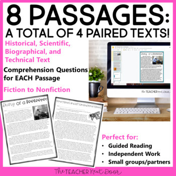 Spring Paired Texts: Fiction to Nonfiction 4th - 6th Grades