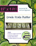 4 FOOT Grade Scale POSTER ~ Spring Paisley