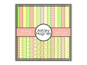 12x12 Digital Paper Set: Spring Collection {A Hughes Design}
