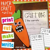 Spring Paper Craft - I Love Carrots