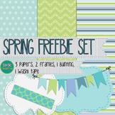 Spring Paper and Frame Freebie Set