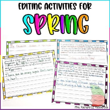 Spring Paragraph Sentence Scramble and Fix it