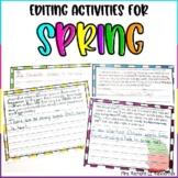 Spring Paragraph Sentence Scramble and Fix it
