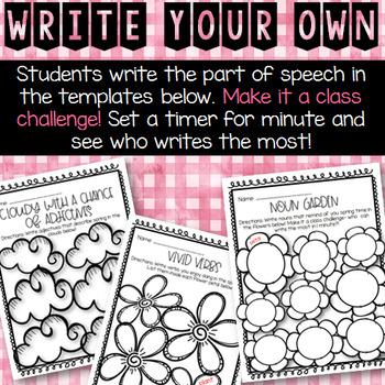 Spring Parts of Speech Activities