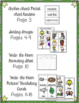 Spring Parts of Speech Sort/Write the Room