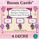 Spring Parts of Speech, Synonyms Antonyms Compound Words Mini Bundle Boom Cards