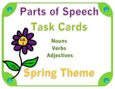Spring Parts of Speech Task Cards (Set of 24)