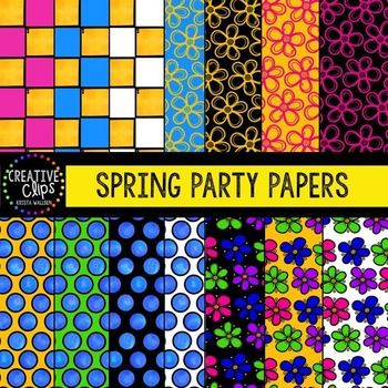 Spring Party Papers {Creative Clips Digital Clipart}