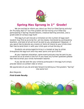 Spring Party Template