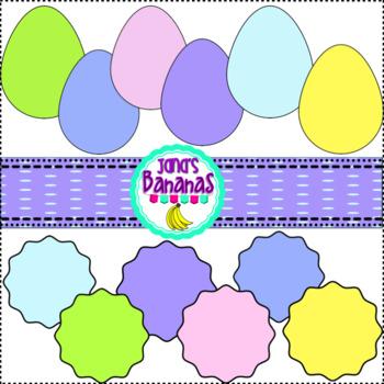 Spring Pastel Shape Clipart