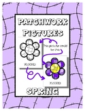 Spring - Patchwork Pictures - 20 Picture with Word Coloring Pages