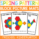 Spring Pattern Block Picture Mats