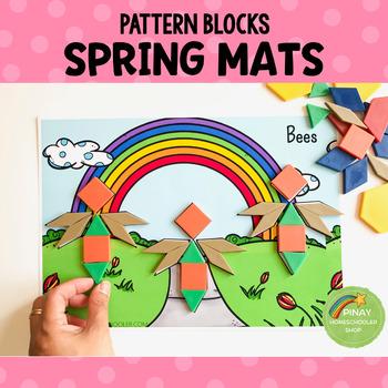 Spring Pattern Blocks Puzzle Mats
