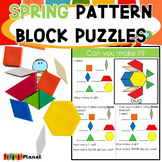 Spring Pattern Block Mat Puzzles