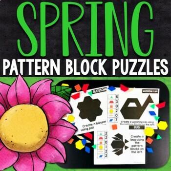 Spring Pattern Block Puzzles | Spring Pattern Block Challenge Cards
