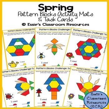 Spring Pattern Blocks Activity Mats