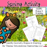 Spring Pattern Blocks Graphing Math Worksheet Activity Packet No Prep