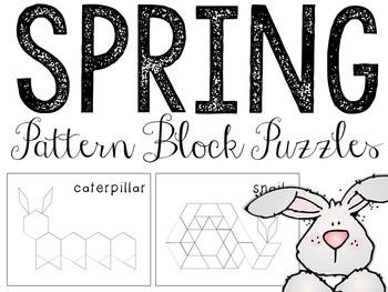Spring Pattern Blocks Puzzles