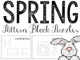 Spring Pattern Blocks Puzzles