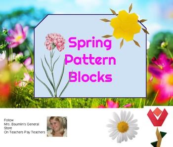 Spring Pattern Blocks Task Cards STEAM