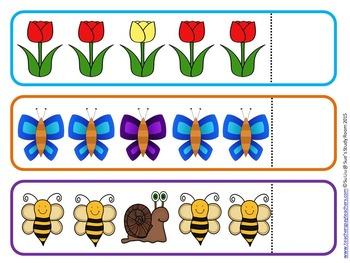 Spring Pattern Cards for Preschool, PreK and K