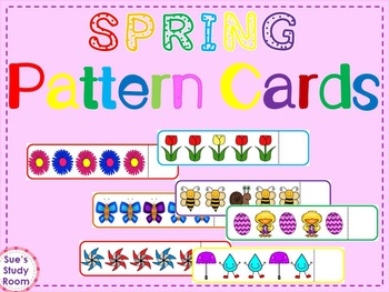 Spring Pattern Cards for Preschool, PreK and K