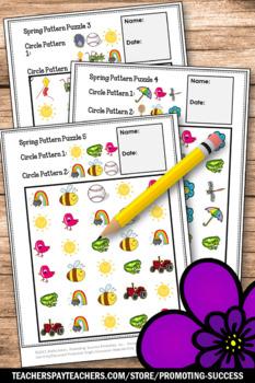 Kindergarten Pattern Worksheets, Summer Math Activities, Pattern Activities