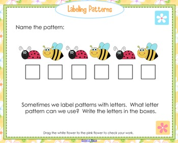 Spring Patterns (A SMARTboard lesson)
