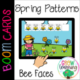 Spring Patterns Bee Emotions BOOM Cards™️ Digital Distance Learning