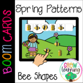 Spring Patterns Bee Shapes BOOM Cards™️ Digital Distance Learning