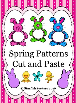 Spring Patterns - Cut and Paste Activity