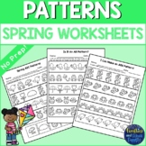 Spring Patterns Worksheets AB AAB ABB ABC Patterns