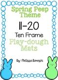 Spring Peep Theme Ten Frame Playdough Mats