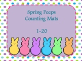 Spring Peeps Counting Mats 1-20