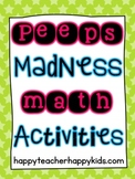 Free Peeps Madness Math Activities