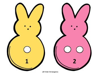 Spring Peeps SUPPORTIVE Counting Mats 1-20