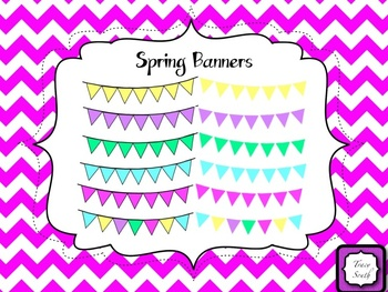 Spring Pennant Banners