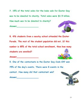 Percent Word Problems-Spring