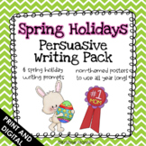 Spring Persuasive Writing Pack (With Non-Themed Posters) | Writing Prompts