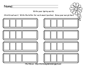 Spring Phoneme Segmentation (3-4 Sounds)