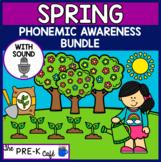 Spring Phonemic Awareness BOOM Card Bundle WITH SOUND | 5